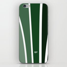 Kirovair Art Deco Green #minimal #art #design #kirovair #buyart #decor #home iPhone Skin