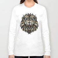 lion Long Sleeve T-shirts featuring Lion by Andreas Preis