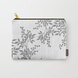 LEAF TOILE GRAY AND WHITE PATTERN Carry-All Pouch