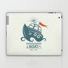 Brave small boat print Laptop & iPad Skin