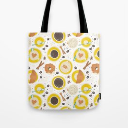 Coffee upper view Tote Bag