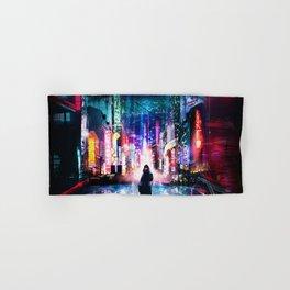 Tokyo Cyberpunk Japan Hand & Bath Towel