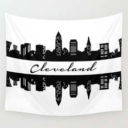 Cleveland Skyline Wall Tapestry