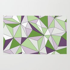 Geo - green, purple, gray and white. Rug