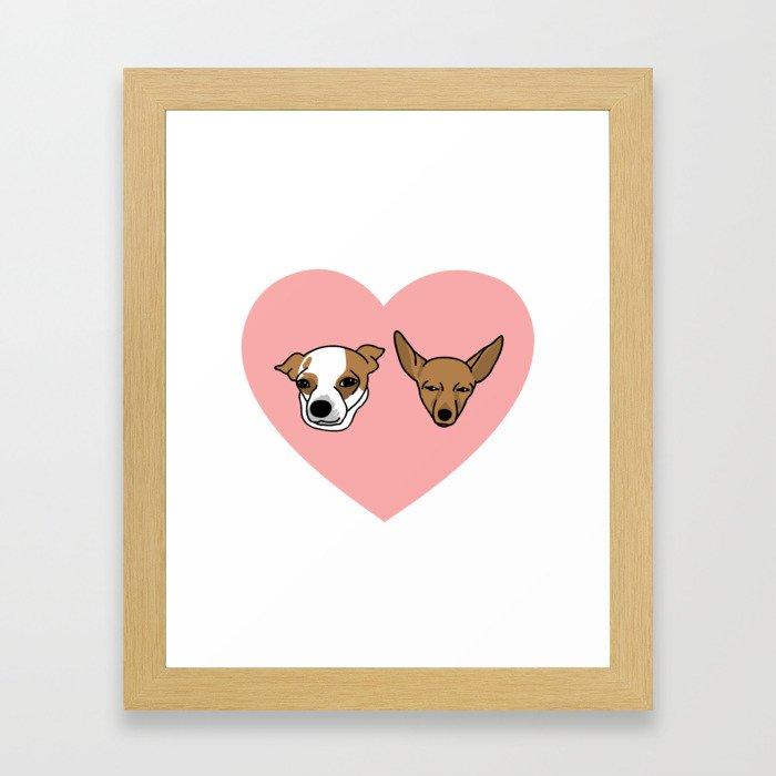 I heart Chihuahuas Framed Art Print