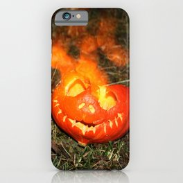 Flaming Pumpkins iPhone Case