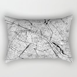 Paris White Map Rectangular Pillow