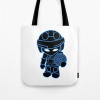 tron Tote Bags featuring Mini Tron by thomasalbany