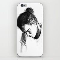 harry styles iPhone & iPod Skins featuring Braids by Judit Mallol