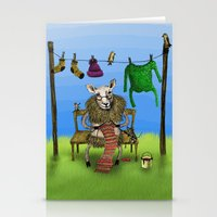 sheep Stationery Cards featuring Sheep by Anna Shell