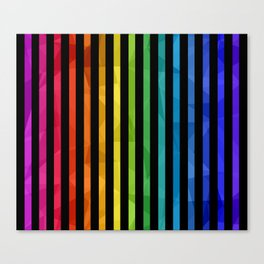 BLACK + RAINBOW Canvas Print