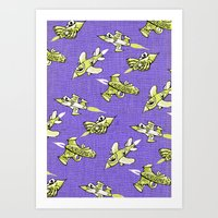 space jam Art Prints featuring space jam by marella