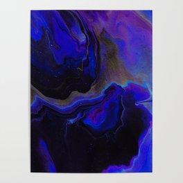 Dark Purple Blue Galaxy - Midnight Shades Poster