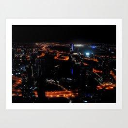 View from the JW Marriott Marquis Dubai Hotel Art Print
