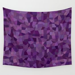 Purple mosaic rectangles Wall Tapestry