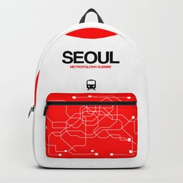 Seoul Red Subway Map Backpack