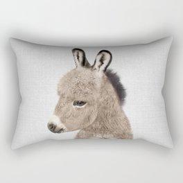 Donkey - Colorful Rectangular Pillow