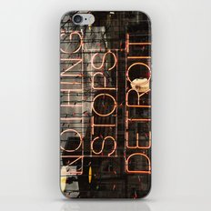Nothing Stops Detroit iPhone & iPod Skin