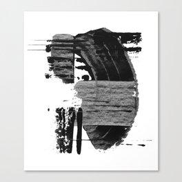 shape shift. black 02 Canvas Print