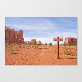 Road closed desert Canvas Print