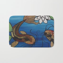 """""""The Pondering Pond"""" by Jes DeCamp Bath Mat"""