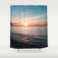 hawaii Shower Curtains featuring Hawaii sunset by Sylvia Cook Photography
