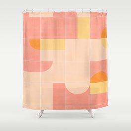 Retro Tiles 02 Shower Curtain