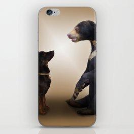 Dog And Bear iPhone Skin