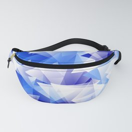 triangles in shades of blue Fanny Pack