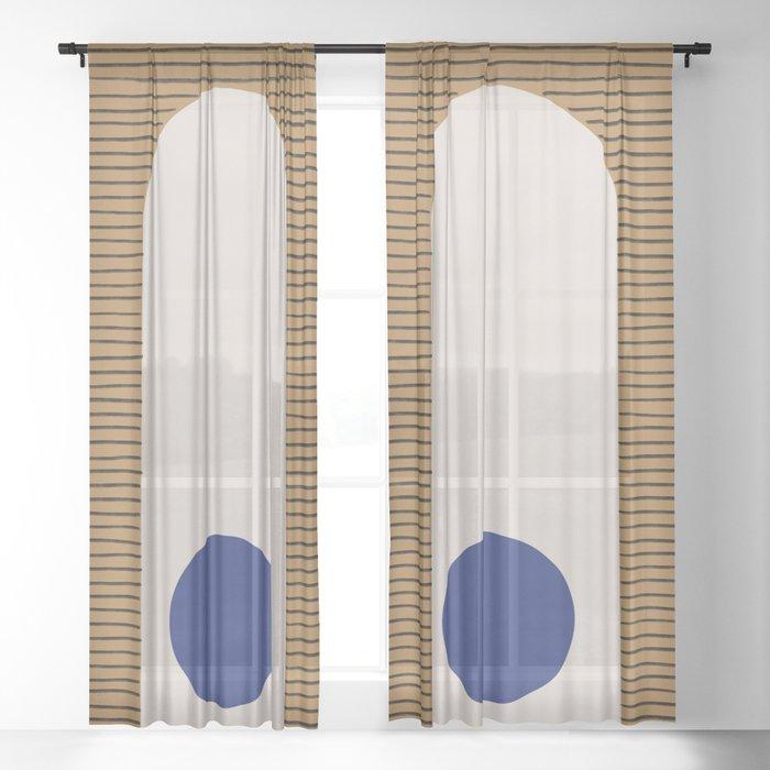 Blue Circle #1 Sheer Curtain