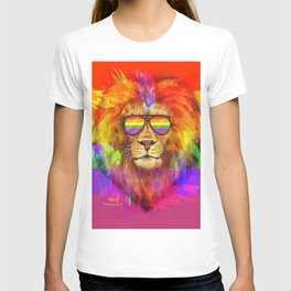 Rainbow Lion Pride T-shirt