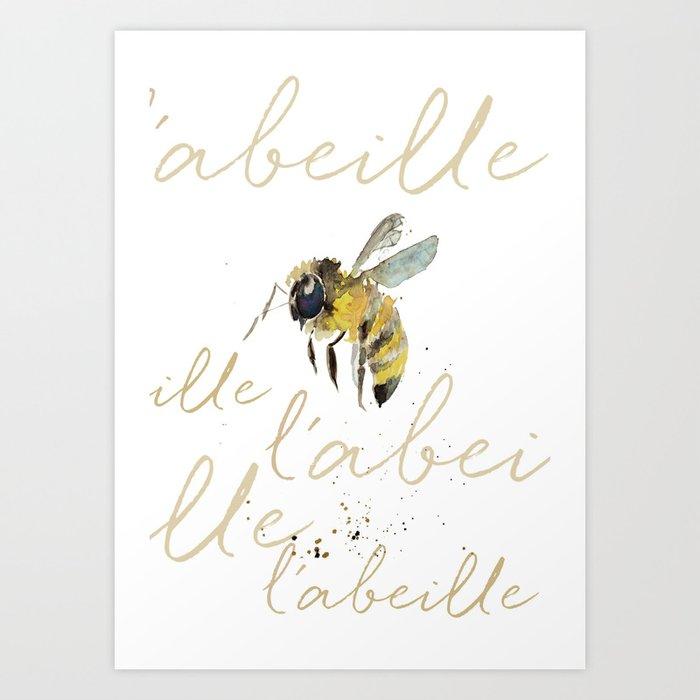 l'abeille  Kunstdrucke