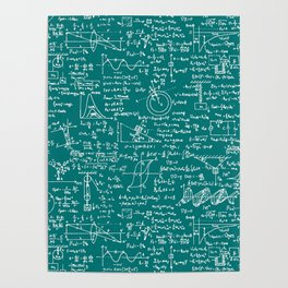 Physics Equations // Teal Poster