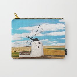 Idyllic white windmill Carry-All Pouch