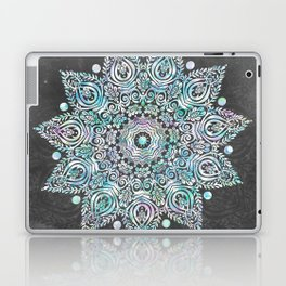 Mermaid Mandala on Deep Gray Laptop & iPad Skin