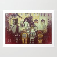 robots Art Prints featuring Robots by GF Fine Art Photography
