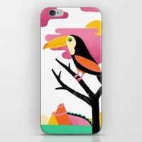 toucan iPhone & iPod Skins featuring Toucan by Vasilisa Wise