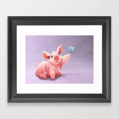 Lil Pig Framed Art Print
