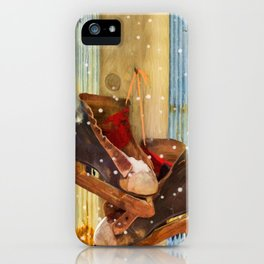 Vintage Ice Skates by Liane Wright iPhone Case