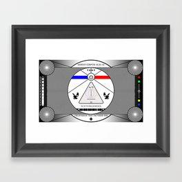 New World Order TV Test Pattern. Framed Art Print