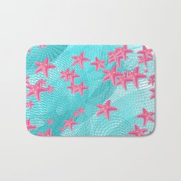 Pink starfish Bath Mat