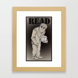 Read The Labels, Fritz Framed Art Print