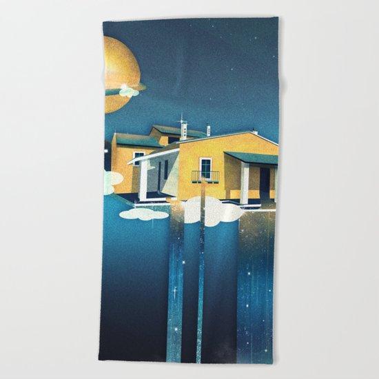 Castle in Heaven Beach Towel