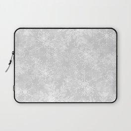 Silver Snowflakes Laptop Sleeve