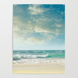 beach love tropical island paradise Poster