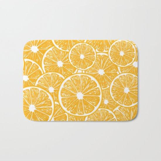 Orange slices pattern design Bath Mat