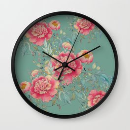 tender gipsy paeonia Wall Clock