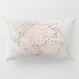 Rose Gold Mandala Marble Pillow Sham