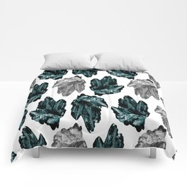 turquoise and grey crystal pattern Comforters