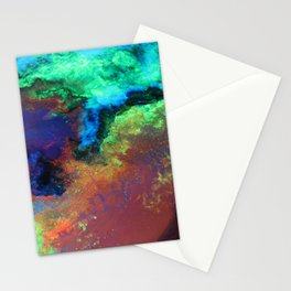 """""""Titan"""" Mixed media on canvas, abstract art painting designs, contemporary artist colorful design Stationery Cards"""